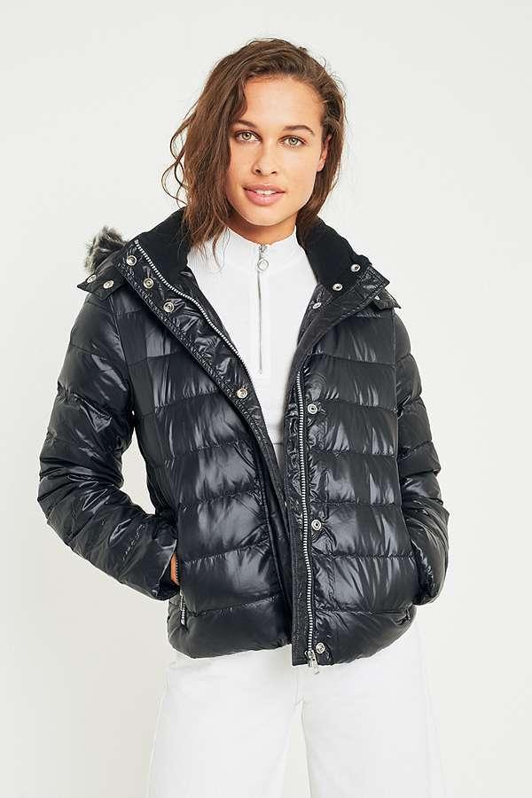 Calvin Klein Jeans Faux Fur Hood Puffer Jacket
