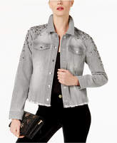 INC International Concepts Studded Trucker Jacket, Created for Macy's