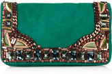 Matthew Williamson Embellished suede clutch