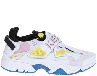 Kenzo Sonic Scratch Sneakers In Leather And Neoprene
