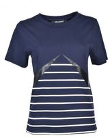 Neil Barrett Lightning Bolt Striped T-shirt