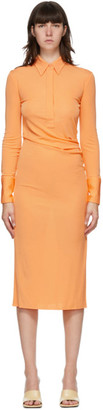 Helmut Lang Orange Shirt Dress