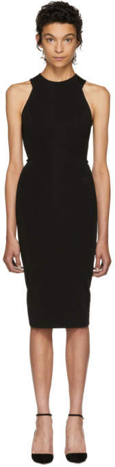 Victoria Beckham Black Cut-Out Back Dress
