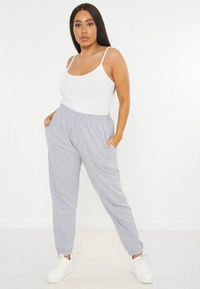 Missguided Plus Size Gray Basic Joggers