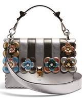 Fendi Kan I flower-appliqué leather shoulder bag