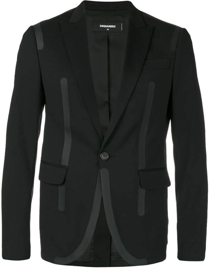 DSQUARED2 opaque piped dinner jacket