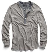 Todd Snyder Classic Henley in Grey Heather