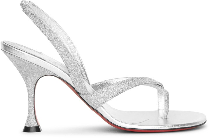 Christian Louboutin Taralita 85 glitter leather sandals