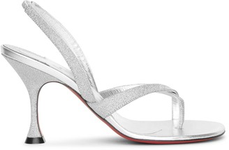 Christian Louboutin Taralita 85 glitter leather sandals