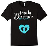 Due In December Cute Baby Boy Maternity Announcement Shirt