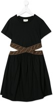 Fendi cut out FF day dress