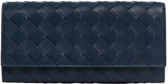 Bottega Veneta Leather Intrecciato Continental Wallet
