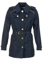 MICHAEL Michael Kors ZIPPER YOKE TRENCH MARINE