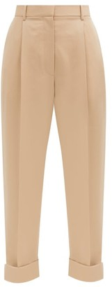 The Row Marta High-rise Wool-twill Trousers - Beige