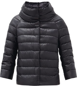 Herno Sofia Funnel-neck Quilted Down Jacket - Black