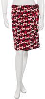 Cacharel Silk-Blend Scottish Terrier Print Skirt