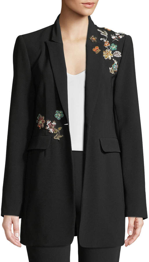 Cinq à Sept Venus Embellished Single-Button Jacket