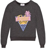 Wildfox Couture Black Relax Print Baggy Beach Jumper