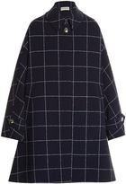 Balenciaga Windowpane-checked A-line coat