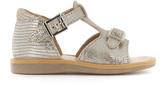 Pom D'Api Poppy Buckled Iridescent Leather Sandals