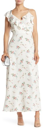 Sugar Lips Sleeveless Floral Ruffle Maxi Dress