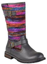 Journee Collection Women's Multi-Colored Fabric Boots