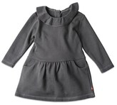 Zutano Girls' French Terry Ruffle Drop Waist Dress.