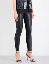 Wolford Lindsey leatherette and stretch-jersey leggings