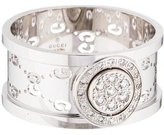 Gucci 18K Diamond Wide Icon Twirl Ring