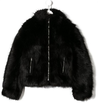 DSQUARED2 TEEN faux fur jacket