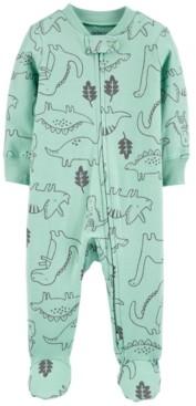 Carter's Baby Boys Ribbed Dinos Footed Pajamas
