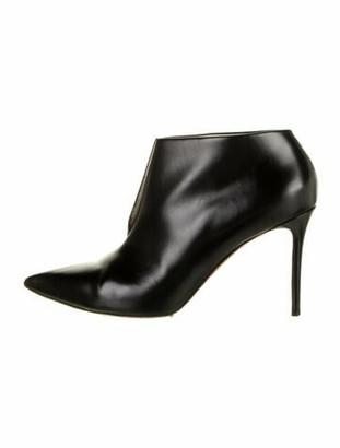 Celine V Neck 90mm Leather Boots Black