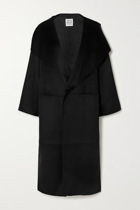 Totême Signature Wool And Cashmere-blend Coat - Black