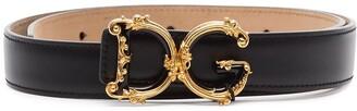 Dolce & Gabbana Baroque Logo Plaque Belt