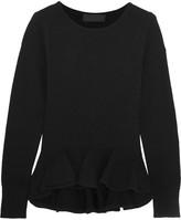Co Ruffled Wool Sweater - Black