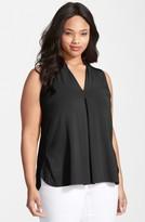 Tart Plus Size Women's 'Aryn' Sleeveless V-Neck Jersey Top