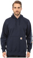 Carhartt Rain DefenderTM Paxton Heavyweight Hooded Sleeve Graphic Sweatshirt