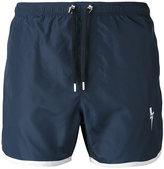 Neil Barrett lightning bolt swim shorts - men - Polyester - XL