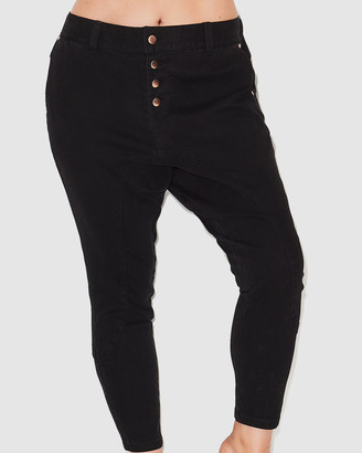 17 Sundays - Women's Black High-Waisted - Search & Destroy Drop Crotch Jeans - Size One Size, 16 at The Iconic