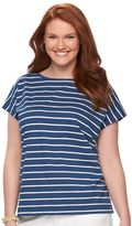 Chaps Plus Size Printed Bar-Back Tee