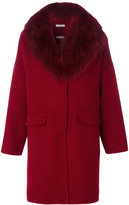 P.A.R.O.S.H. classic fur-lined coat - women - Fox Fur/Polyester/Wool - M