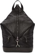 Jimmy Choo Black Studded Leather Fitzroy Backpack