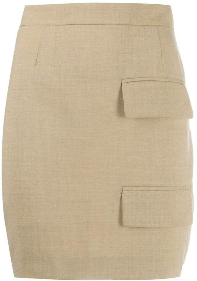Situationist double pocket pencil skirt