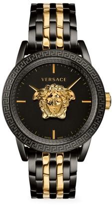 Versace Palazzo Empire IP Black & Goldtone Bracelet Watch