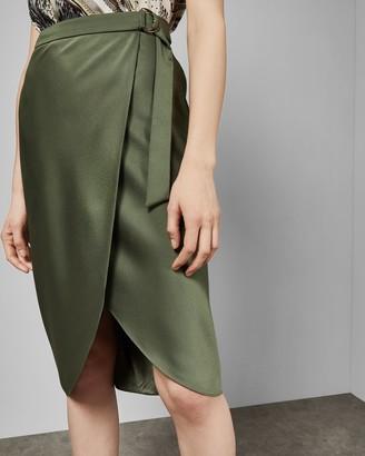 Ted Baker Belted Wrap Midi Skirt