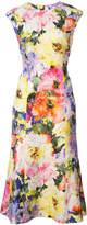 Monique Lhuillier floral print dress