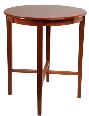 Boraam Round Pub Table, Espresso/Cherry