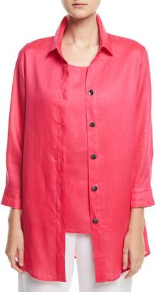 Caroline Rose Tissue Linen Boyfriend Shirt