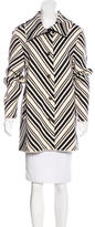 Tory Burch Striped Knit Coat