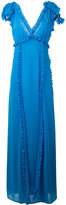 MSGM ruffle trim maxi dress - women - Polyester - 42